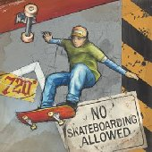 No Skateboarding Allowed Wall Canvas Art