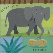 Nutty Elephant Wall Canvas Art