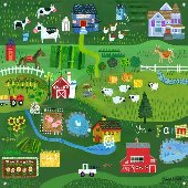 On The Farm Wall Mural