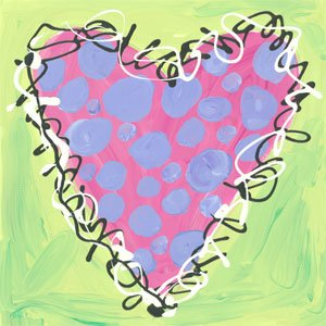 Peri and Pink Polka Dot Heart - Wall Sticker Outlet