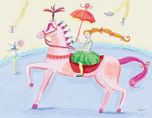 Pink Circus Horse - Kids Wall Decor Store