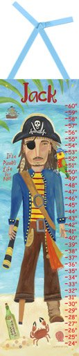 Pirate Growth Chart - Kids Wall Decor Store