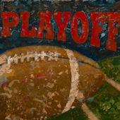 Playoffs Football Wall Canvas Art