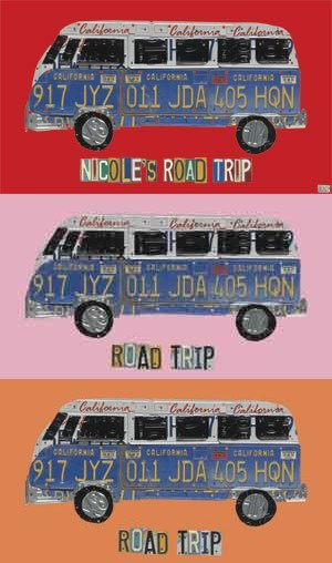 License Plate Road Trip - Kids Wall Decor Store