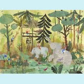 Safari Swing Wall Mural