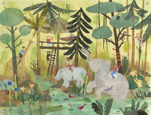 Safari Swing Wall Mural - Wall Sticker Outlet