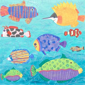 School of Fish - Wall Sticker Outlet