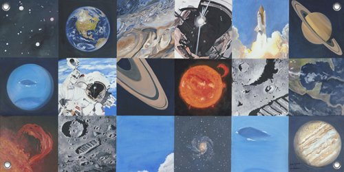 Space Exploration Wall Mural - Kids Wall Decor Store