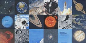Space Exploration - Wall Sticker Outlet