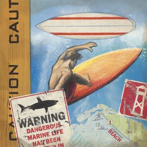 Surf with Caution Wall Canvas Art - Wall Sticker Outlet
