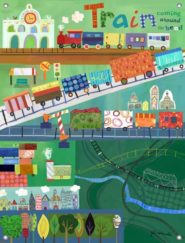 Train Station Wall Mural - Kids Wall Decor Store