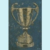Vintage Trophy Cup Wall Canvas Art