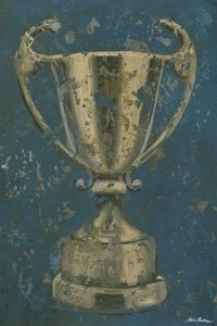 Vintage Trophy Cup Wall Canvas Art - Wall Sticker Outlet