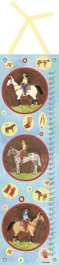 Western Girl Growth Chart - Wall Sticker Outlet