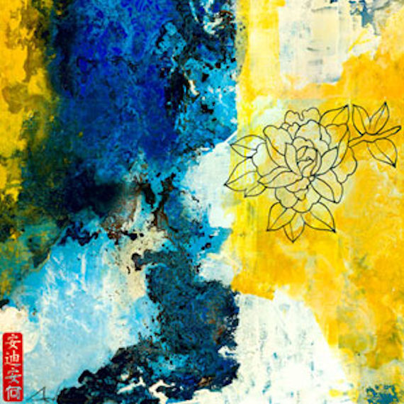 Blue And Yellow Line Series 15 Wall Art  sc 1 st  Elitflat & Yellow And Blue Wall Art - Elitflat