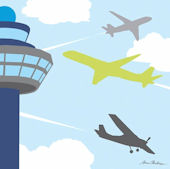 Air Traffic Control Wall Canvas Art