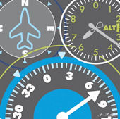 Airplane Gauges Transportation Wall Canvas Art