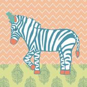 Circus Zebra Canvas Wall Art
