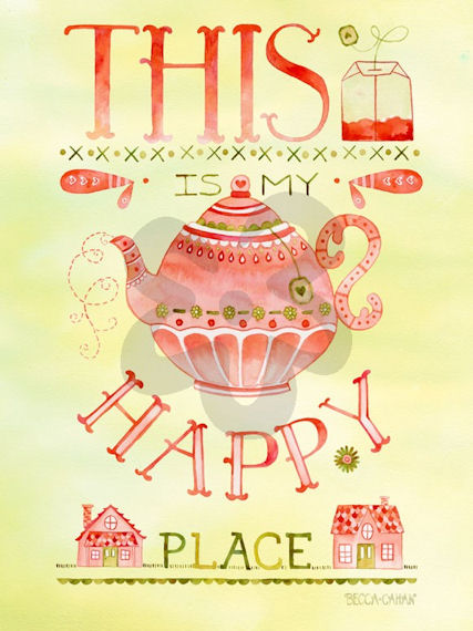 Happy Place Canvas Wall Art - Wall Sticker Outlet