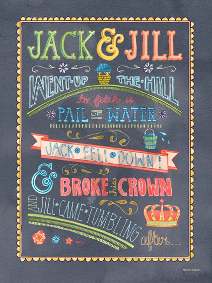 Jack And Jill Canvas Wall Art - Wall Sticker Outlet