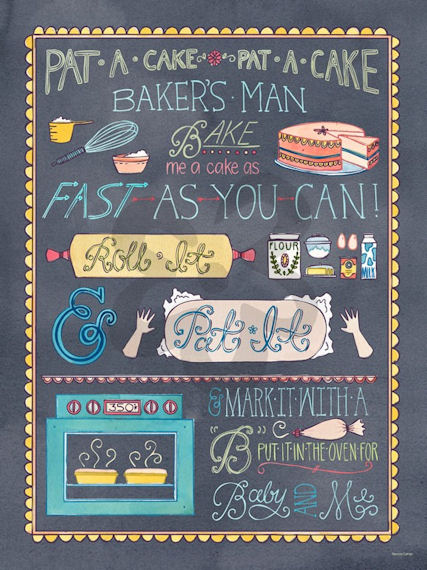 Pat A Cake Canvas Wall Art - Wall Sticker Outlet