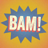 Halftone BAM Canvas Wall Art