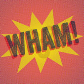Halftone WHAM Canvas Wall Art