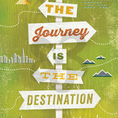 The Journey Is The Destination Canvas Wall Art