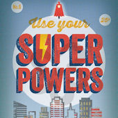 Use Your Superpowers Blue Canvas Wall Art
