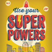 Use Your Superpowers Yellow Canvas Wall Art