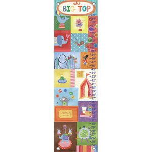 Big Top Canvas Growth Chart - Kids Wall Decor Store