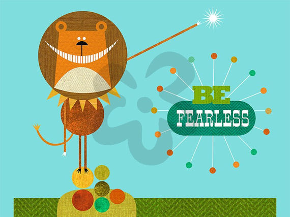 Be Fearless Canvas Wall Art - Wall Sticker Outlet