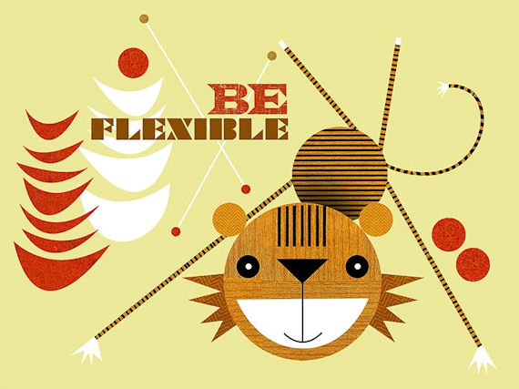Be Flexible Canvas Wall Art - Wall Sticker Outlet