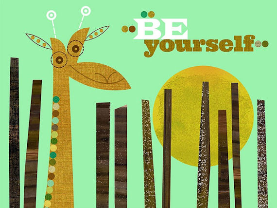Be Yourself Canvas Wall Art - Wall Sticker Outlet