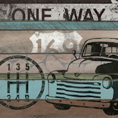 American Byways Truck Wall Canvas Art