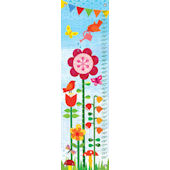 Cheerful Blossoms Canvas Growth Chart