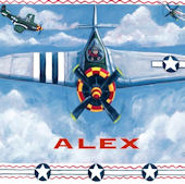 Airplane Personalized Canvas Wall Art