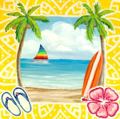Fun In The Sun Canvas Wall Art