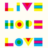 Live Hope Love Canvas Wall Art