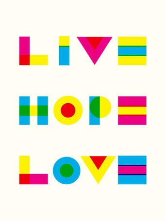 Live Hope Love Canvas Wall Art - Wall Sticker Outlet