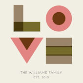 Love For The Family Personalized Canvas Wall Art
