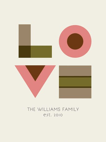 Love For The Family Personalized Canvas Wall Art - Wall Sticker Outlet