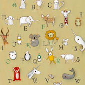 Alphabet Zoo Canvas Wall Art