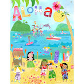 Aloha Girls Wall Mural