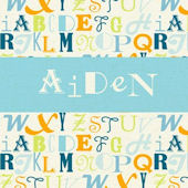 Alphabet Mix Personalized Wall Canvas Art