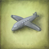 Boys Toys Plane Wall Canvas Art