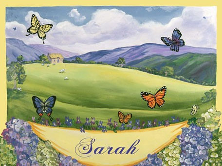 Butterfly Personalized Canvas Wall Art - Wall Sticker Outlet