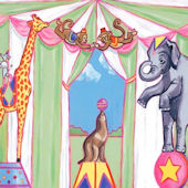 Circus Animals Canvas Wall Art