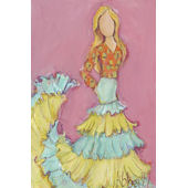 Flamenco Dancer Blond Wall Canvas Art
