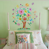 Flower Tree Peel and Place Wall Mural